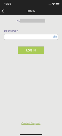 mobile app password