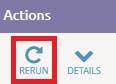 rerun report button