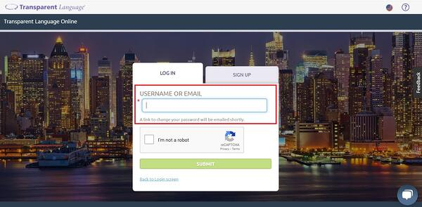 Login recovery enter username or password